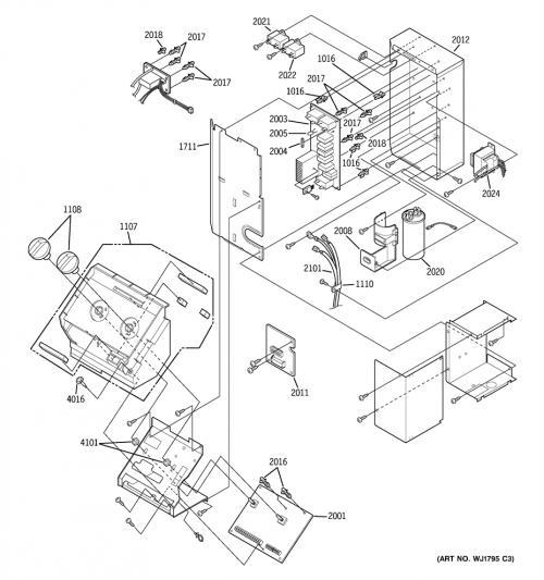 Ge Az35h12d2cm1 Burner Selector  Control Knob