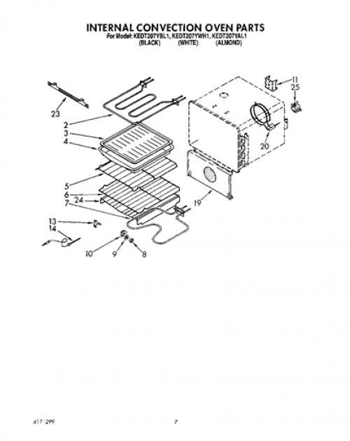 Kitchenaid Kedt207ybl1 Oven Wire Roasting Rack