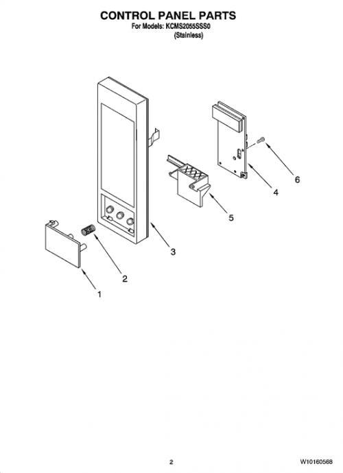 Kitchenaid Kcms2055sss0 Microwave Door Button Genuine Oem