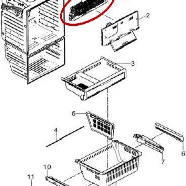 Samsung Part  DA9600462D Evaporator Assembly  OEM