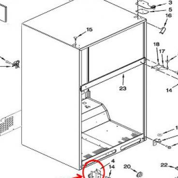 Whirlpool Part W10725960 Cabinet Roller Oem