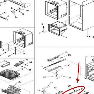 Whirlpool Part Wp67002365 Drawer Slide Oem