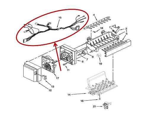 whirlpool part  w10292582 wire harness  oem