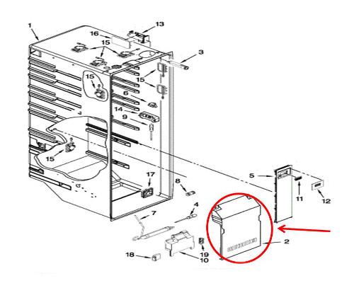 Kitchenaid Krsc503ess01 Refrigerator Parts