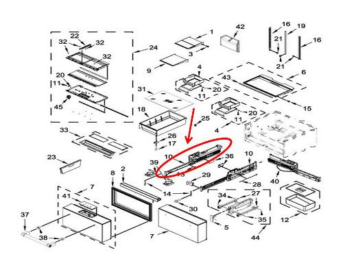 Whirlpool Part W10718057 Adapter Oem