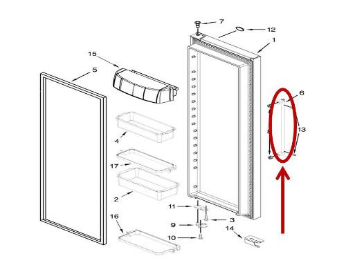 Kitchenaid Krsc503ess00 Refrigerator Parts