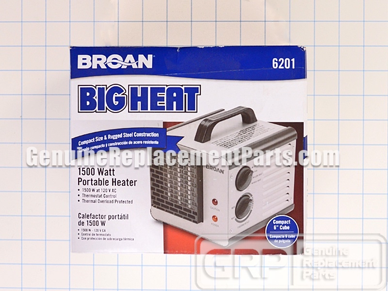 Broan Part 6201 Efficient Two Level Portable Heater Oem