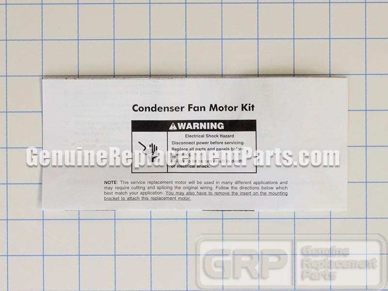 Whirlpool Part# 10884507 Condenser Fan Motor Kit (OEM) on